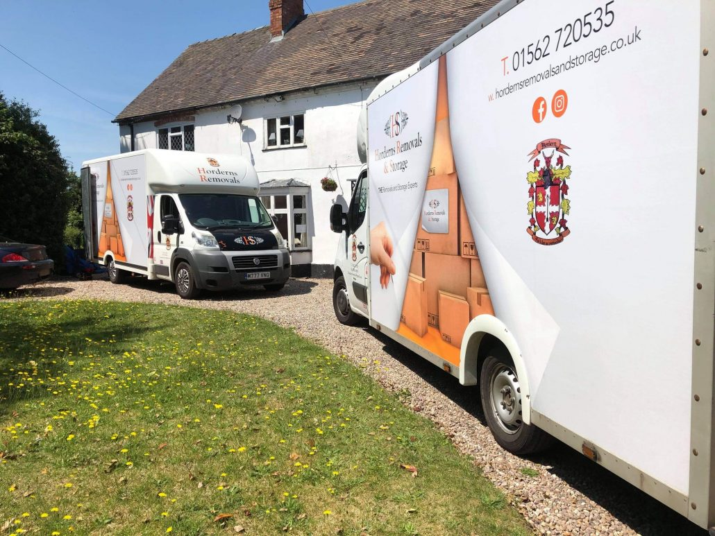 Horderns removals removal vehicles outside house
